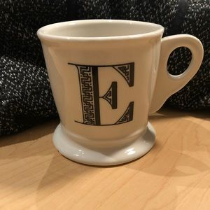 "Anthropologie Monogram Mug ""E"""